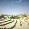 懲りずにマイクラ「砂漠の村をみつけた」