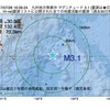 2017年07月28日 16時09分 九州地方南東沖でM3.1の地震