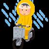 【自転車・アウトドア】ストレッチ性抜群ですっきり着られるレインウェア