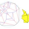 円形用紙+11.25度系による習作「熊」