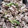 豚肉とピーマン、淡路玉ねぎの粒マスタードマヨソテー