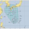 台風14号の卵の熱帯低気圧が7日15時現在でフィリピンの東に!気象庁の予想では8日には台風14号となる予想!米軍の進路予想では九州地方に直撃!?
