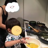 2歳8ヶ月 キッチンでお手伝いをしたい!