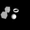 【GLSL】立方体とトーラスと球