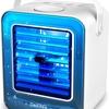 保湿効果があってエアコンの乾燥対策 卓上扇風機 持ち運びクーラーが便利