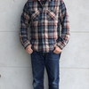 DELUXEWARE 丈夫で暖かい極厚ヘビーネルシャツ! HV-39 60sNEW VINTAGE HEAVY NEL SHIRT