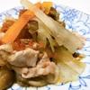 *7/13  豚肉と野菜のフライパン蒸し〜梅ポン酢*