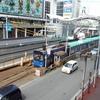 阪堺上町線の軌道移設工事