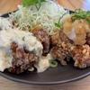 福山市『日鶏ひとり』半々定食