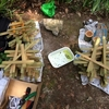 竹駒ごいた作りに向けて竹刈り
