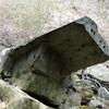 五助谷途中で断念し、十文字山へ(その1)石切道から五助谷へのトラバース道