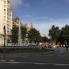 噴水ショーを見るため、地下鉄でスペイン広場へ移動
