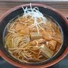 仙台駅1Fにある、そば・うどん 萩で冬限定の「旨辛ホルモンそば」が美味しかった。