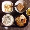 すき焼き煮、小粒納豆 、バナナヨーグルト。