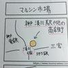 【神戸湊川】マルシン市場行ってきました【4コマ漫画】