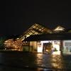 梅小路公園 朱雀の庭 ライトアップ、西八条第跡