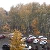 モスクワ初雪が降りました。
