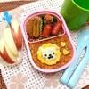 幼稚園のお弁当♪セリアの抜き型でライオンオムライス♪