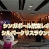 シンガポール航空ビジネスクラス・T3ターミナルシルバークリスラウンジ〜食事&シャワーレポ