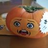 ハロウィンの柿に、こんなシールが