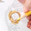 【動画公開】(黄色編)ダイソー塗り絵「花の国」を赤・青・黄の3色で塗ってみた。
