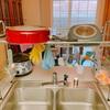 狭いキッチンにおすすめの水切りかご