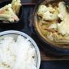 東海市の富士の屋で味噌煮込みうどん定食700円