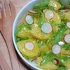 年末もデトックス-ほろ苦さがおいしい八朔と春菊のサラダ