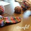 レッスンレポート)3/21個人レッスン 靴下編みのかかと部分に苦戦しています