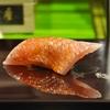 豊洲の「大和寿司」でお好み3(金目鯛、ぼたん海老、鳥貝他)。