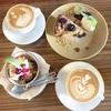 ラムとシナモンが香る♪ 焼き林檎のレアチーズケーキ(RAIN ON THE ROOF @三軒茶屋)