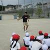 4年生:体育 バトンパスの練習