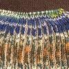 イギリスゴム編みの腹巻き帽子2色目突入とルームシューズ