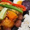 彩り野菜と鶏肉の南蛮黒酢弁当(夏)
