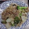 幸運な病のレシピ( 1746 )朝:モヤシ・ブロッコリ炒め、レバ照り焼き、鮭、シシャモ、味噌汁、マユのご飯