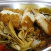 秋鮭フライと舞茸のカレー