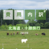 【2019年 北海道旅行記】旅行費用の内訳