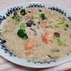 【病みつきレシピ】『鮭としめじの味噌チーズオートミール雑炊』【オートミールで腸活⑥】