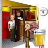 池袋西口に残る隠微なゾーンにあるベルギービール専門店Gibbonをエクセルで描いてみた