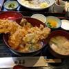 穴子天丼、豚ロースカツ定食 @石屋 (浦和)