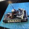 mpcスノースピーダー製作記 86 今度は後部座席のダックが入らない(笑)。
