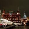 モスクワの冬のイルミネーション