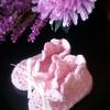 ピンクのベビーシューズ
