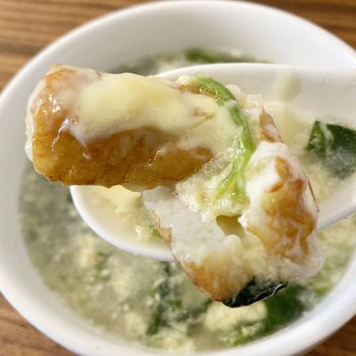 ヘルシーで具沢山! まるで和風シチューの「チーちくたまごスープ」【はたらく人のためのコンビニかけ合わせグルメ #6】