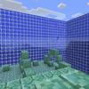 【MinecraftPC版】Part287 海底神殿の周囲の壁をガラスに交換