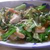 幸運な病のレシピ( 1207 )昼:鶏ムネ八宝菜風、良い天気だったので昼からビール、揚げ物
