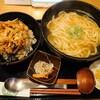 久々に金沢市木越町にあるハスネテラスで、かき揚げ丼かけうどんセット(うどん大盛400g)。そして、TABETEアプリでサンドイッチお任せセットをテイクアウト。