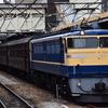 高崎機関区 乗務員訓練 機関車+旧客車+機関車の撮影