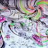 ねぷた絵師鈴木秀次さんの即興絵画を展示しました。