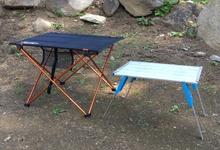 ソロキャンプ用テーブルの比較。大きさ、重さ、参考価格で比較します
